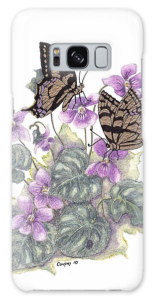 As Close To The Flowers Galaxy Case by Stanza Widen