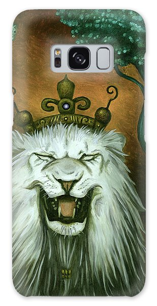As The Lion Laughs Galaxy Case by Leah Saulnier The Painting Maniac