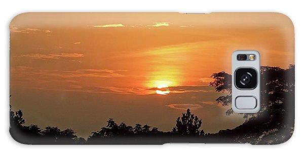 As The Sun Sets ... Orange Galaxy Case