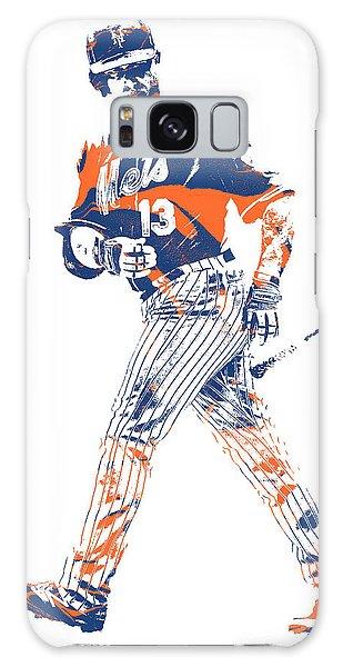 New York Mets Galaxy Case - Asdrubal Cabrera New York Mets Pixel Art 1 by Joe Hamilton