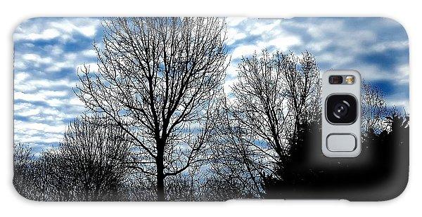 Ash Trees Against A Mackerel Sky Galaxy Case