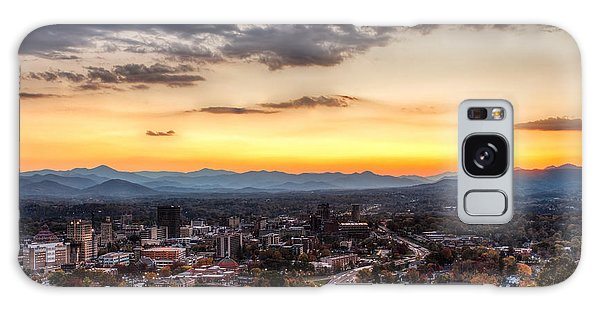 Asheville From Above Galaxy Case