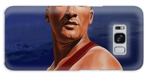 Record Galaxy Case - Ashton Eaton Painting by Paul Meijering