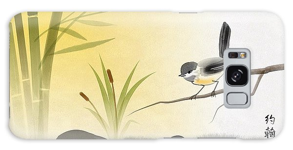 Asian Art Chickadee Landscape Galaxy Case