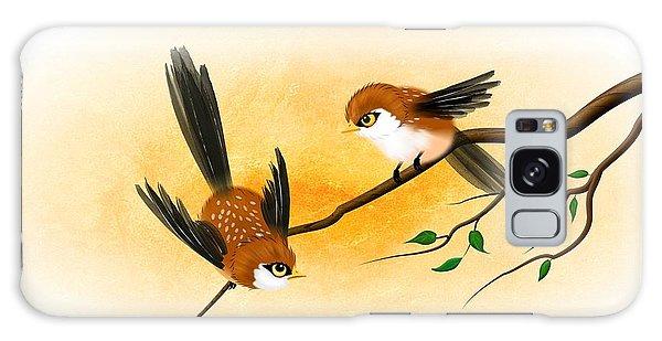 Asian Art Two Little Sparrows Galaxy Case