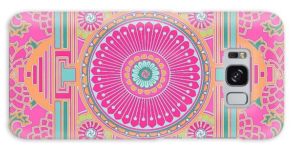 Galaxy Case featuring the digital art Asian Inspiration Mandala by Joy McKenzie