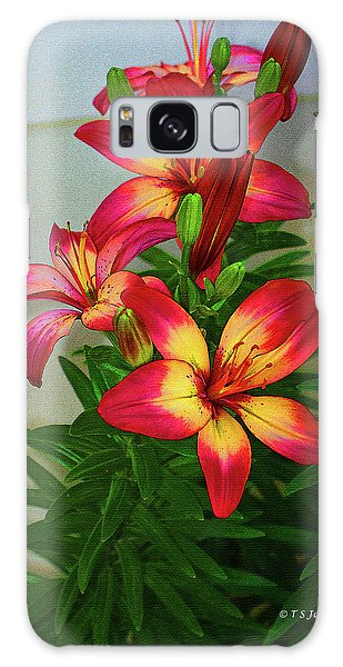 Asian Lilly Spring Time Galaxy Case