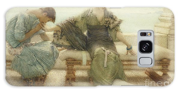 Wall Paper Galaxy Case - Ask Me No More....for At A Touch I Yield by Sir Lawrence Alma-Tadema