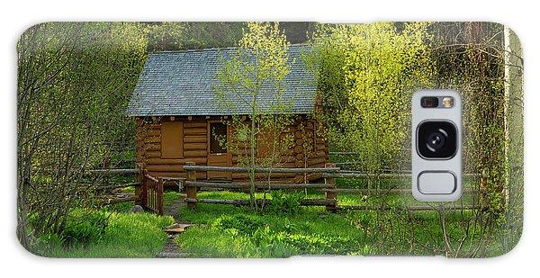 Aspen Cabin Galaxy Case by Leland D Howard