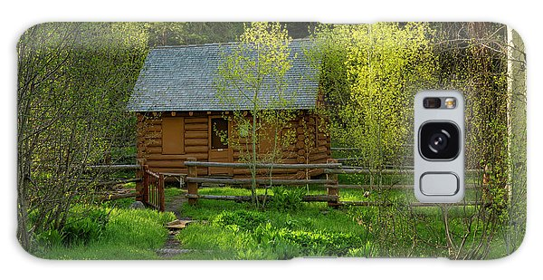 Aspen Cabin Galaxy Case by Leland D Howard