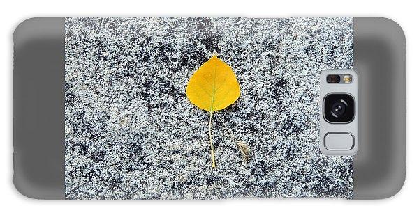 Aspen Leaf On Stone Galaxy Case