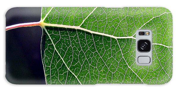 Aspen Leaf Veins Galaxy Case