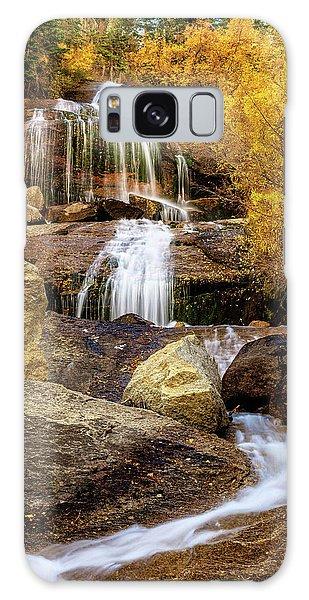 Aspen-lined Waterfalls Galaxy Case