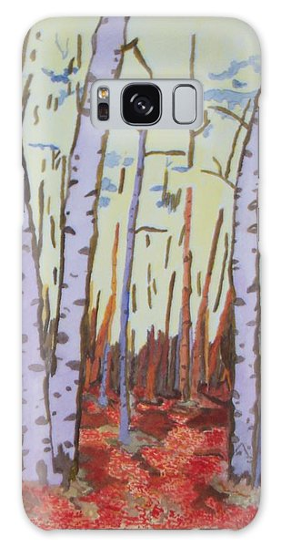 Aspen Trees Galaxy Case by Connie Valasco