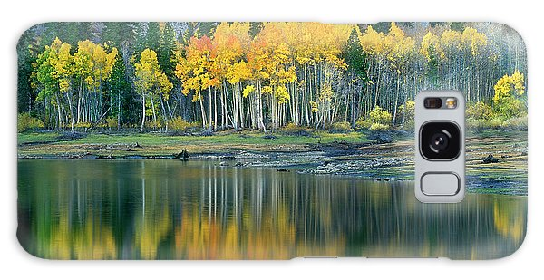 Aspens In Fall Color Along Lundy Lake Eastern Sierras California Galaxy Case by Dave Welling