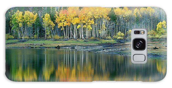 Aspens In Fall Color Along Lundy Lake Eastern Sierras California Galaxy Case