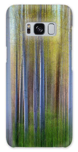 Aspens In Springtime Galaxy Case