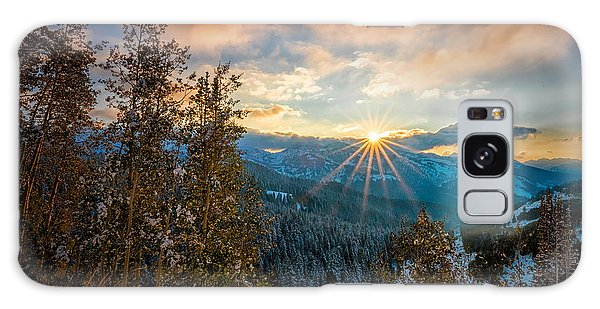 Aspens Sunset After Snowfall Galaxy Case