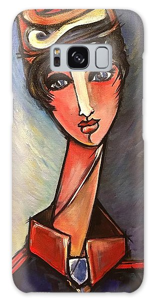 Galaxy Case featuring the painting Assisente Di Volo by Laurie Maves ART