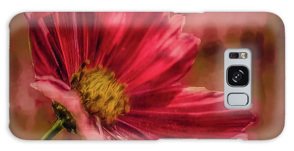 Galaxy Case featuring the digital art Aster Red Painterly #h1 by Leif Sohlman