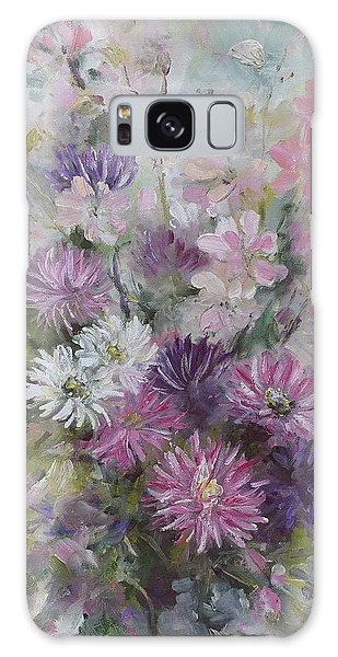 Asters And Stocks Galaxy Case