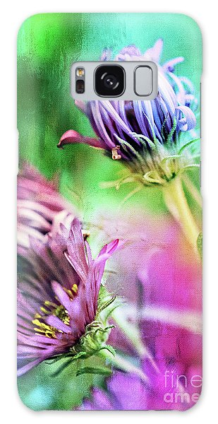 Asters Gone Wild 2 Galaxy Case
