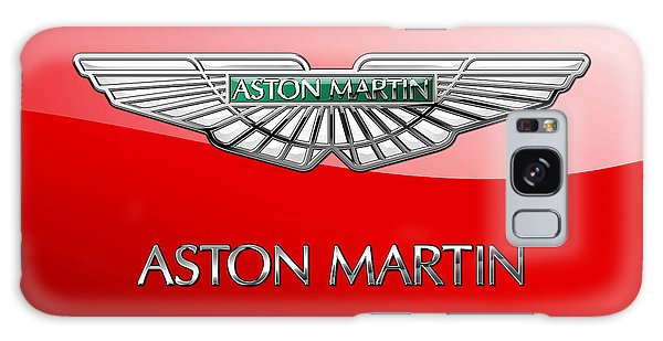 Automotive Galaxy Case - Aston Martin - 3 D Badge On Red by Serge Averbukh