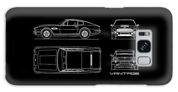 Martin Galaxy Case - Aston Martin V8 Vantage Blueprint by Mark Rogan