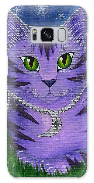Astra Celestial Moon Cat Galaxy Case