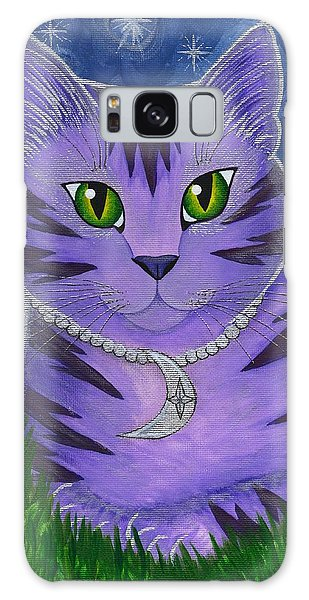 Astra Celestial Moon Cat Galaxy Case by Carrie Hawks