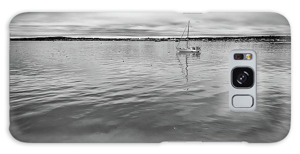 Galaxy Case featuring the photograph At Anchor In The Harbor by Rick Berk