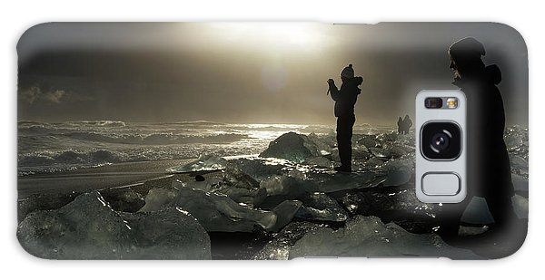 Galaxy Case featuring the photograph The Diamond Beach, Jokulsarlon, Iceland by Dubi Roman