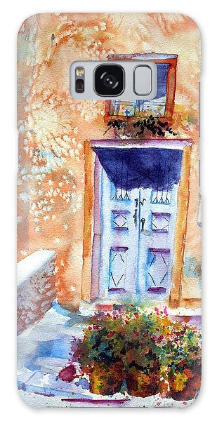 At Home In Santorini Greece  Galaxy Case by Warren Thompson