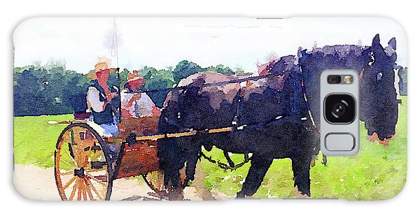 Horse And Buggy At Mount Vernon Galaxy Case