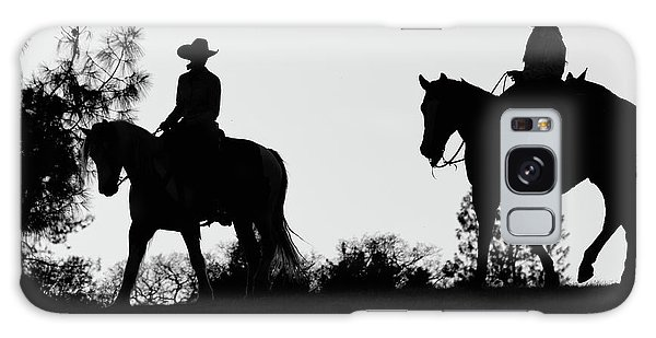 At Sunset On The Ranch Galaxy Case