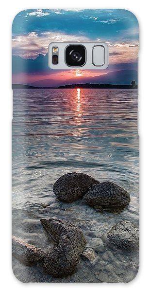 At Sunset On The Shoreline Galaxy Case