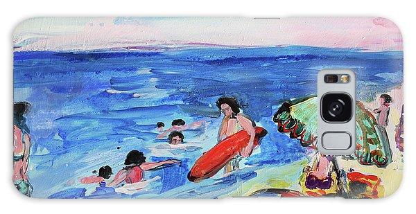 At The Beach Galaxy Case by Amara Dacer