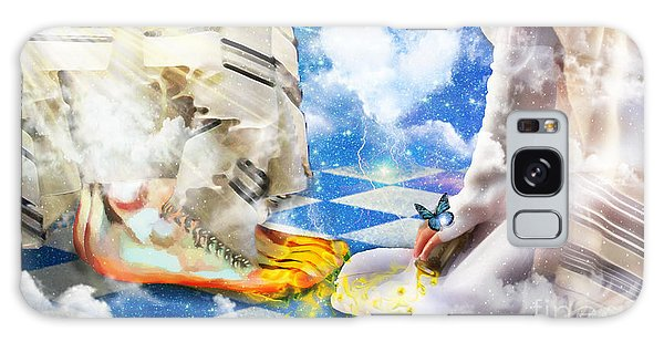 At The Feet Of Jesus Galaxy Case by Dolores Develde