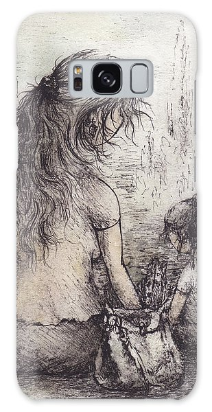 Galaxy Case - At The Fountain I by Rachel Christine Nowicki