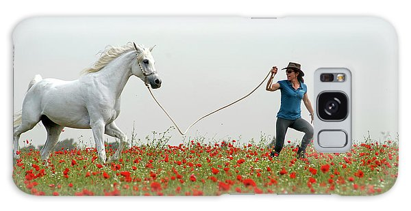 At The Poppies' Field... 2 Galaxy Case by Dubi Roman
