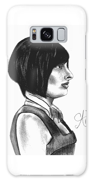 At Your Service - Bartender Art - Charcoal Drawing Illustration By Ai P. Nilson  Galaxy Case