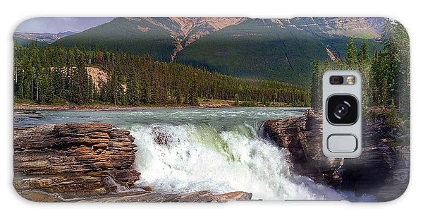 Athabasca Falls Galaxy Case by Heather Vopni
