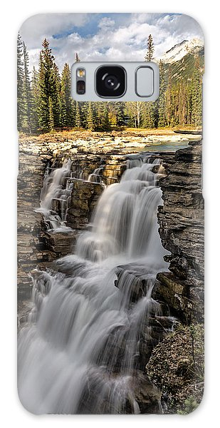 Galaxy Case featuring the photograph Athabasca Falls by John Gilbert