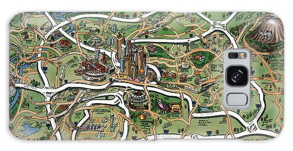 Atlanta Cartoon Map Galaxy Case