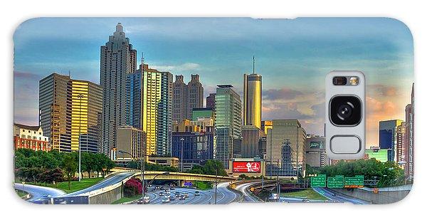 Atlanta Coca-cola Sunset Reflections Art Galaxy Case