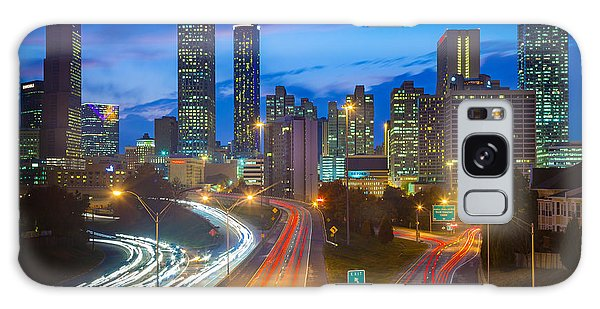 Atlanta Downtown By Night Galaxy Case