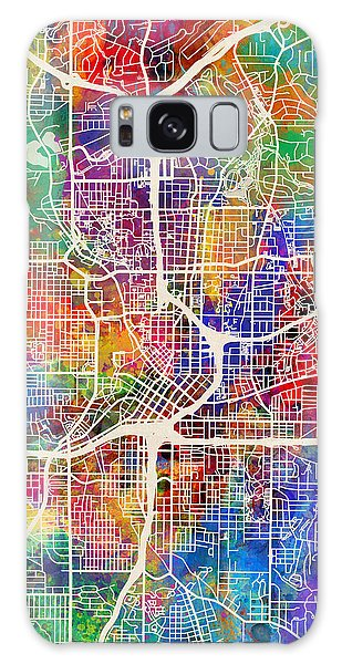 City Map Galaxy Case - Atlanta Georgia City Map by Michael Tompsett