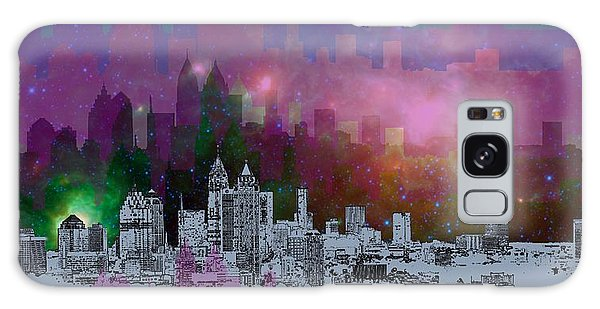 Galaxy Galaxy Case - Atlanta Skyline 7 by Alberto RuiZ