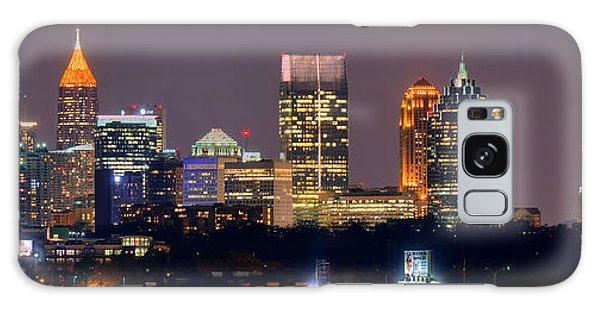 Atlanta Skyline At Night Downtown Midtown Color Panorama Galaxy Case
