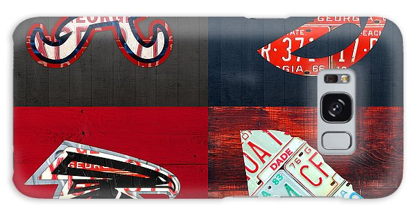 Recycle Galaxy Case - Atlanta Sports Fan Recycled Vintage Georgia License Plate Art Braves Hawks Falcons Plus State Map by Design Turnpike